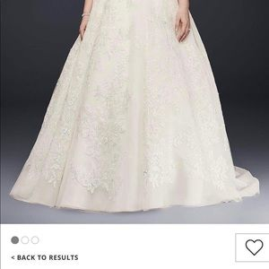 Oleg Cassini Plus Size Wedding Dress